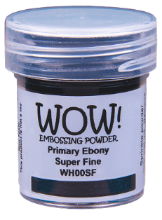 WOW! Embossing Powder- Primary Black Superfine (WH00SF)