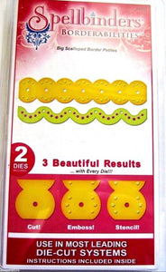 Spellbinders- Borderabilities- Big Scalloped Border Petites (S4-242)