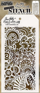 Tim Holtz Stampers Anonymous- Doodle Art 2 Layering Stencil (THS142)
