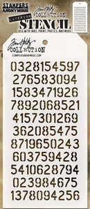 Tim Holtz Stampers Anonymous- Digits Layering Stencil (THS145)