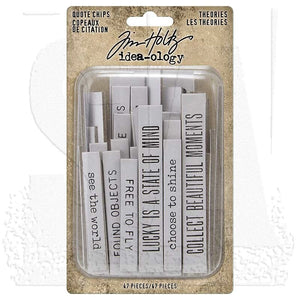 Tim Holtz idea-ology Theories Quote Chips TH94045