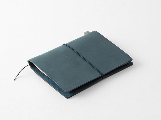 Traveler's Company Passport Size Leather Cover - Blue (15240-006)