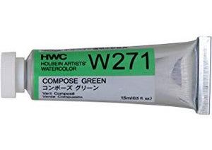 Holbein Artists' Watercolor- Compose Green (W271)
