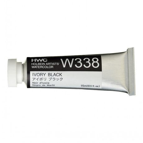 Holbein Artists' Watercolor- Ivory Black (W338)