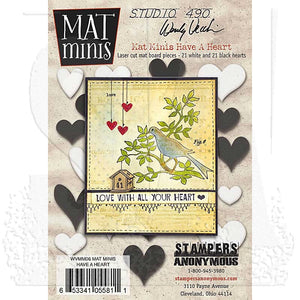 Mat Minis- Have A Heart WVMM06 Wendy Vecchi