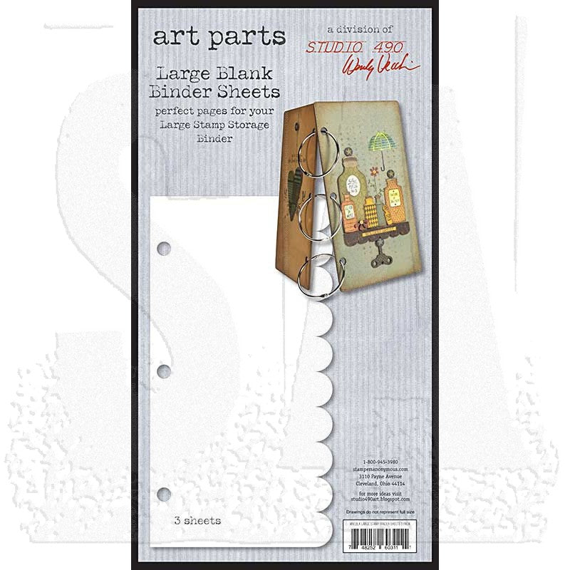 Wendy Vecchi Studio 490 Art Parts Large Blank Binder Sheets