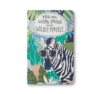 "Load image into Gallery viewer, Compendium Write Now- ""You are weird, unique, and wildly perfect"" Journal (YAWU)"