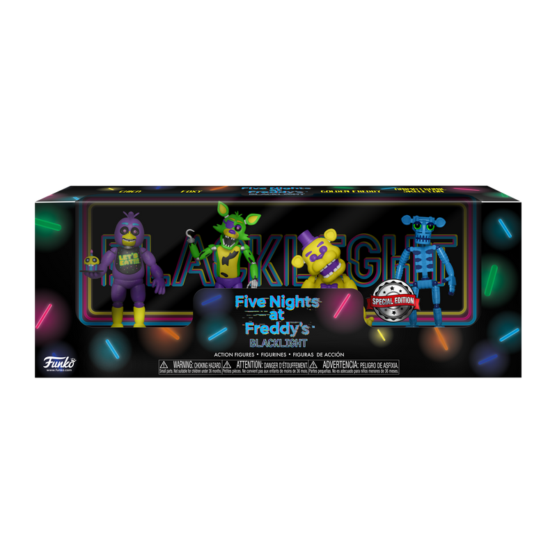 FIVE NIGHTS AT FREDDY'S BLACKLIGHT 4 PACK V1