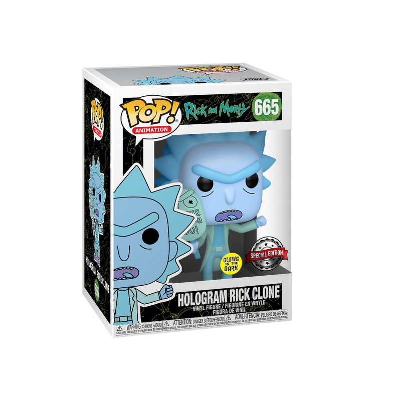 HOLOGRAM RICK CLONE (GLOW IN THE DARK) - RICK AND MORTY