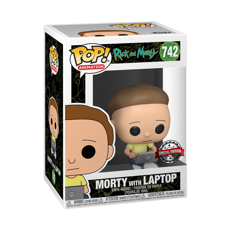MORTY WITH LAPTOP - RICK AND MORTY