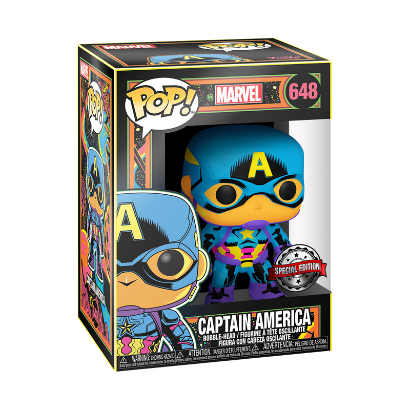 Captain America (Black light) - Marvel Comics