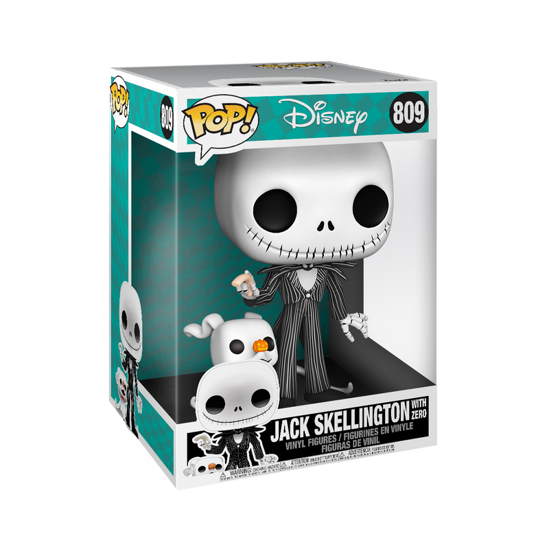 "10"" JACK SKELLINGTON WITH ZERO - THE NIGHTMARE BEFORE CHRISTMAS"