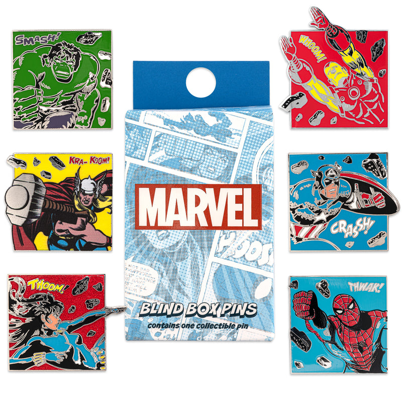 CLASSIC AVENGERS BLIND BOX ENAMEL PINS - MARVEL