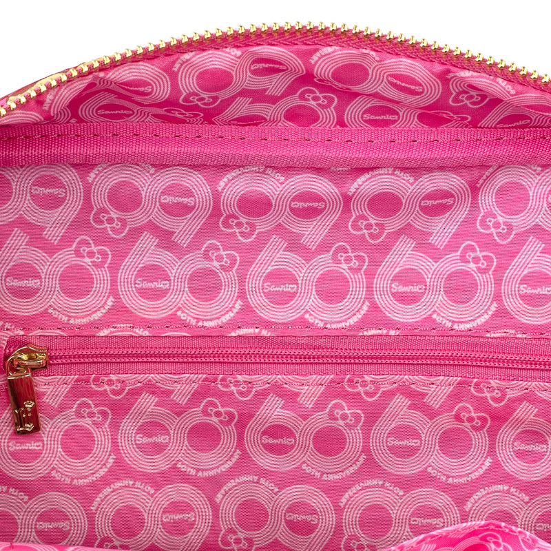 60TH ANNIVERSARY GOLD BOW AOP CROSSBODY BAG - HELLO KITTY