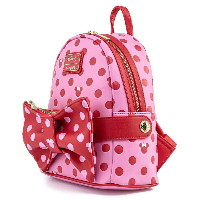MINNIE MOUSE DOTS AOP BOW 2-IN-1 MINI BACKPACK
