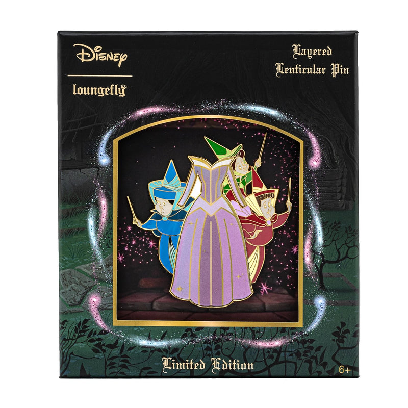 "SLEEPING BEAUTY LENTICULAR 3"" PIN"