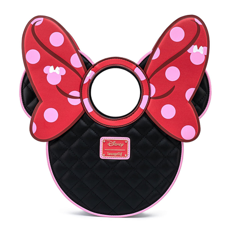 MINNIE MOUSE DOTS AOP BOW DIECUT HANDBAG - DISNEY