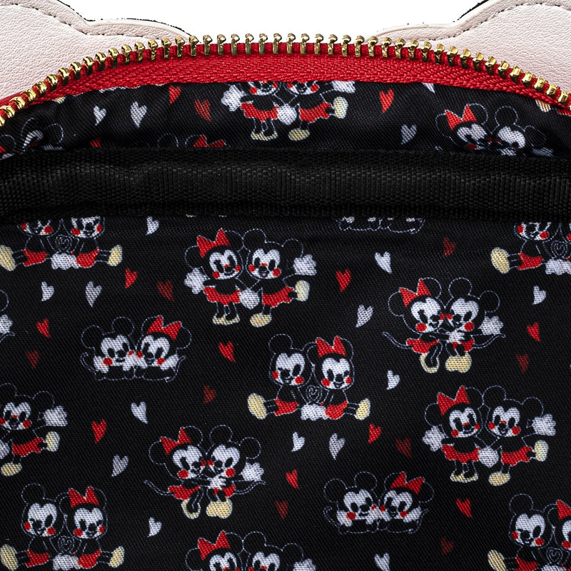 MICKEY AND MINNIE MOUSE LOVE HEART HANDS CROSSBODY
