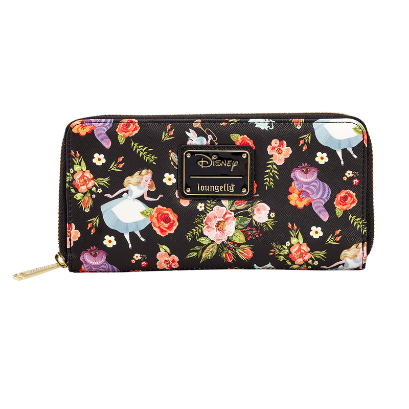 ALICE FLORAL AOP ZIP AROUND WALLET - DISNEY