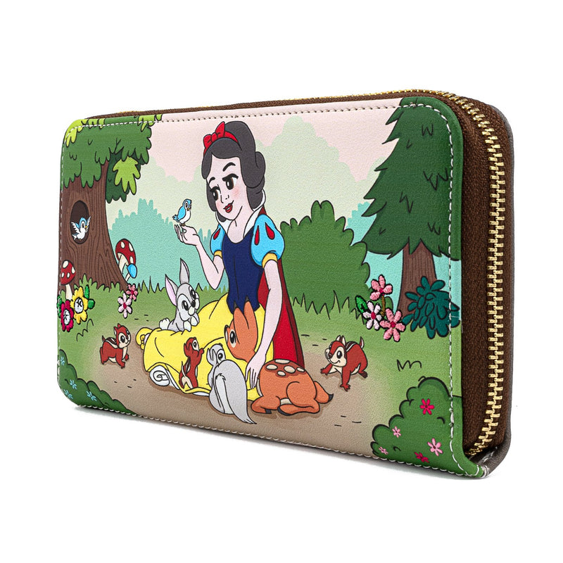 SNOW WHITE AND THE SEVEN DWARFS MULTI SCENE ZIP AROUND WALLET