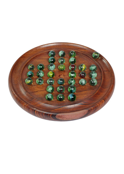 Solitaire , Brainvita , Buddhijaal Game with Marbles