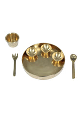 Brass Plate pretend play set, Pital ki Thali