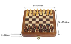 "Chess 12""-Magnetic folding board"