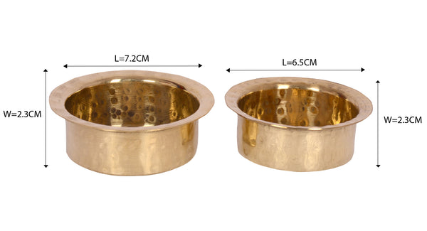 Brass Vessel set of 2 pretend play set