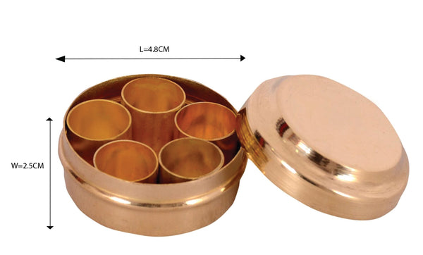 Brass Miniature Masala Box