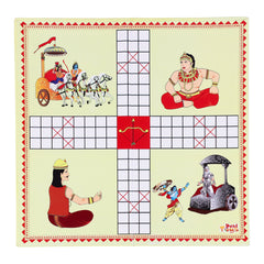 2 in 1 Strategy Board game of Nine Men Morris and Pachisi