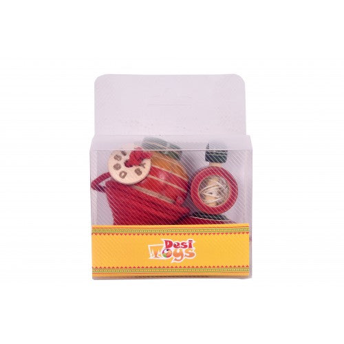 Desi Toys Spinning top & Windup Top, Pack of 2