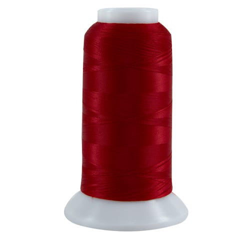 627 Bright Red Bottom Line Polyester Thread