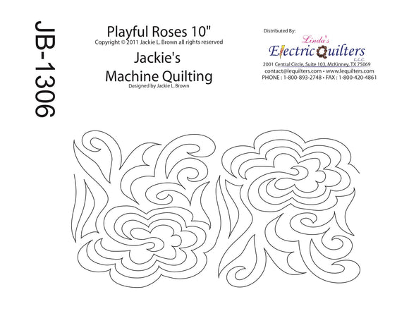 1306 Playful Roses Pantograph by Jackie Brown