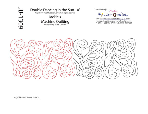 1309 Double Dancing In The Sun Pantograph by Jackie Brown