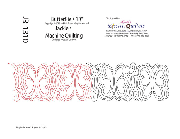 1310 Butterflies Pantograph by Jackie Brown