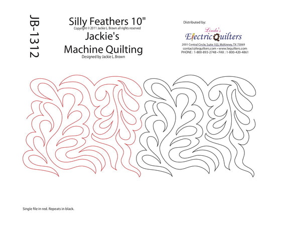 1312 Silly Feathers Pantograph by Jackie Brown