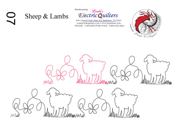007 Sheep & Lamb Pantograph by Linda V. Taylor
