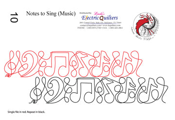 010 Notes To Sing Pantograph by Linda V. Taylor