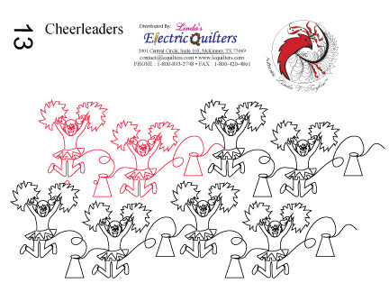013 Cheerleaders Pantograph by Linda V. Taylor