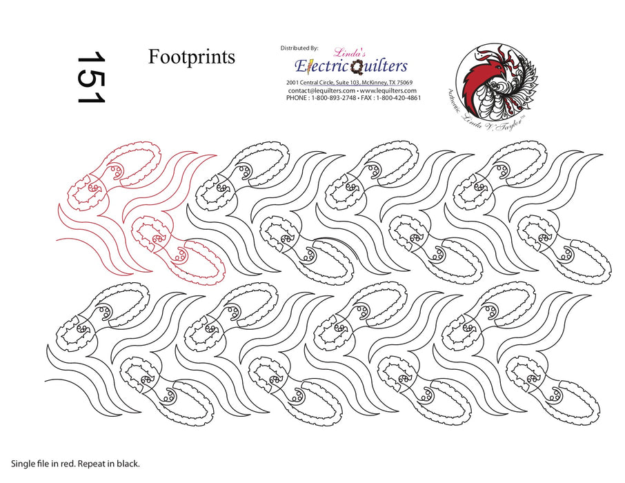 151 Footprints Pantograph by Linda V. Taylor
