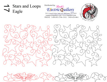 017 Stars and Loops (Eagle) Pantograph by Linda V. Taylor