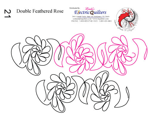 021 Double Feathered Rose Pantograph by Linda V. Taylor