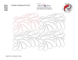 222 Lindas Feathered Curls Pantograph by Linda V. Taylor