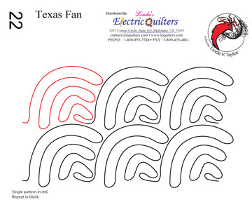 022 Texas Fan Pantograph by Linda V. Taylor