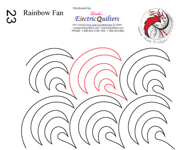 023 Rainbow Fan Pantograph by Linda V. Taylor