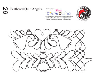 026 Feathered Quilt Angels Pantograph by Linda V. Taylor
