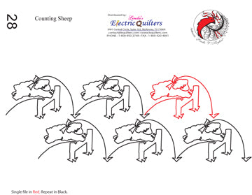 028 Counting Sheep Pantograph by Linda V. Taylor