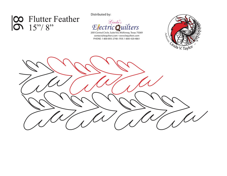 086 Flutter Feather Pantograph by Linda V. Taylor