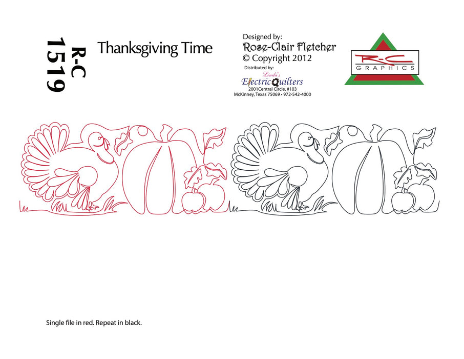 1519 Thanksgiving Time Pantograph by Rose-Clair Fletcher