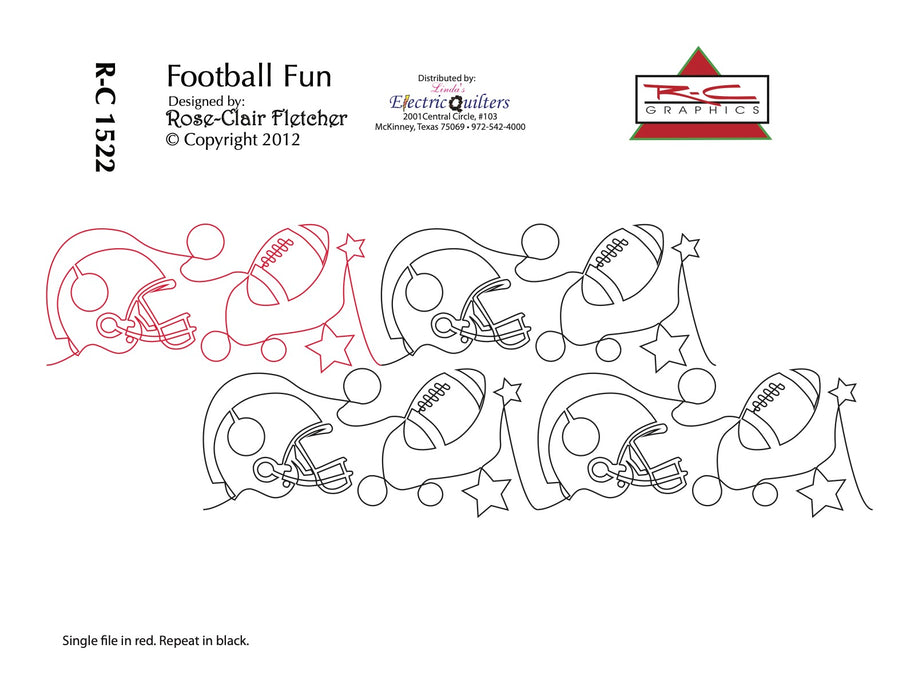 1522 Football Fun Pantograph by Rose-Clair Fletcher